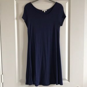 EUC Charlotte Russe T Shirt Dress Navy